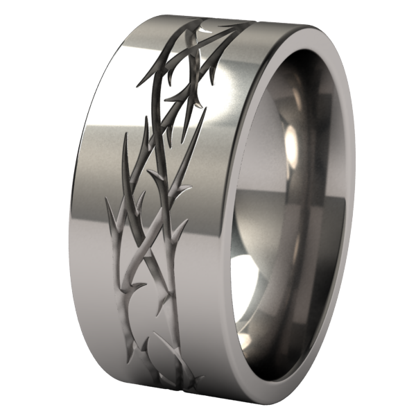Thorns-none-Titanium Rings