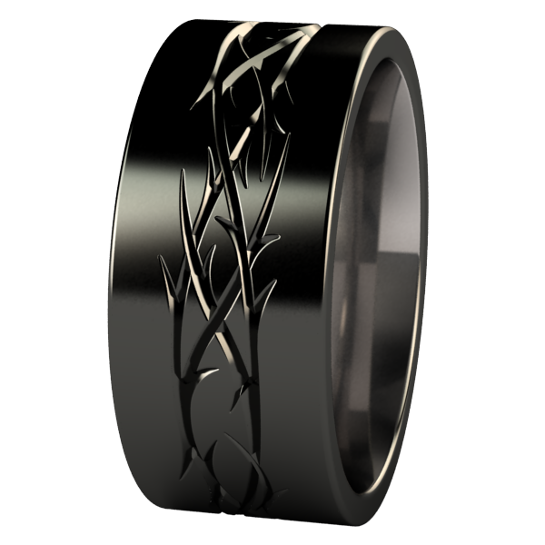 Thorns - Black-none-Titanium Rings