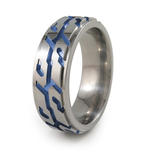Street Performance! Titanium Fidget Ring | Natural + Color