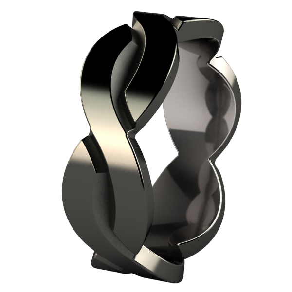 Torsade - Black-none-Titanium Rings