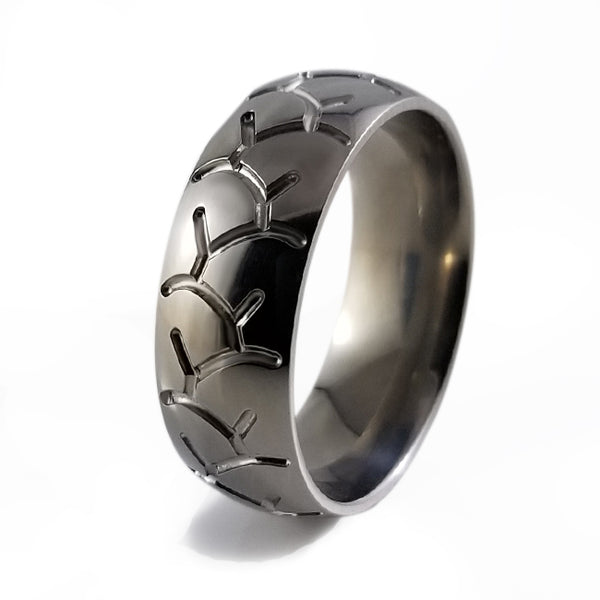 Sports Tread Titanium RIng-Ring - Template 13-Titanium Rings