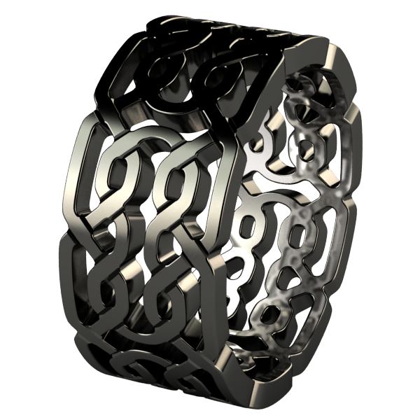 Tristan - Black-none-Titanium Rings