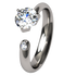 Trixie Diamond Solitaire-none-Titanium Rings