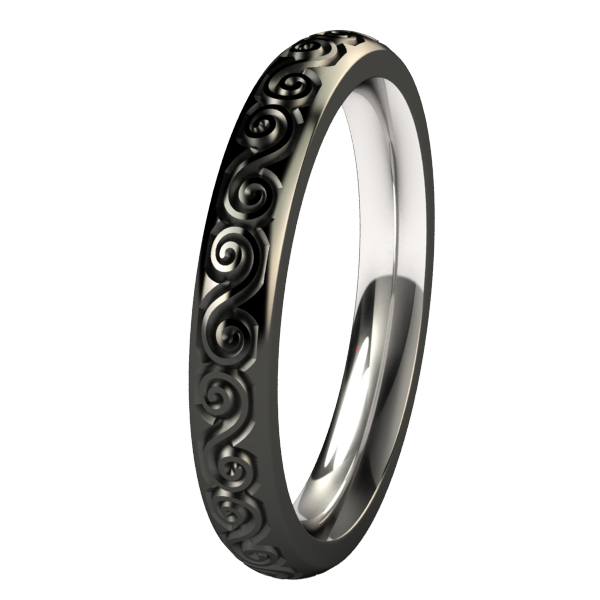 Victoria Companion - Black-none-Titanium Rings