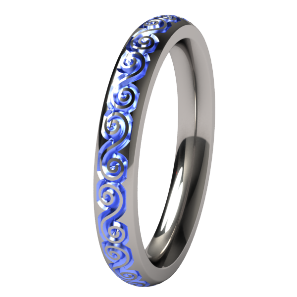Victoria Companion - Colored-none-Titanium Rings