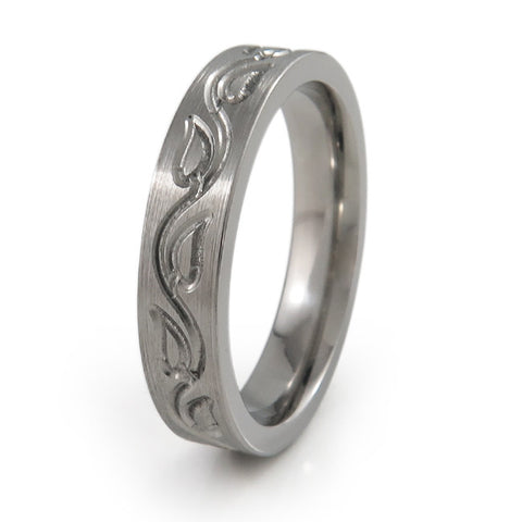 Vineleaves Titanium Ring