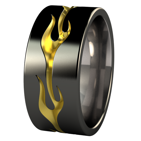 Voodoo - Black & Colored-none-Titanium Rings