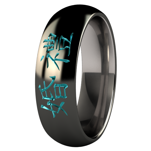 Wedding Black and Colored-none-Titanium Rings