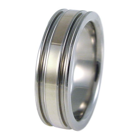 Abyss White Gold Inlay-none-Titanium Rings