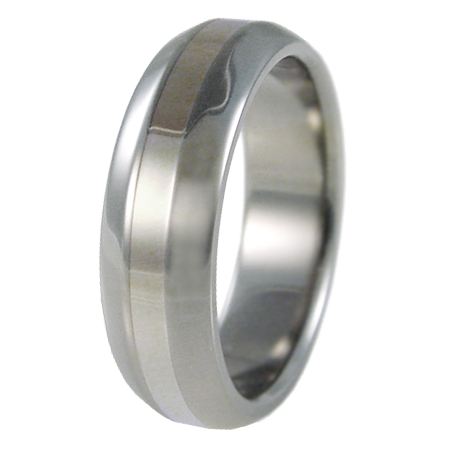 Ascent white Gold inlay-none-Titanium Rings