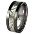 Camelot White Gold Inlay - Black-none-Titanium Rings