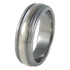 Crescent White Gold Inlay-none-Titanium Rings