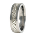 Murano sculpted white Gold inlay-none-Titanium Rings