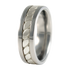 Nautica sculpted white Gold inlay-none-Titanium Rings