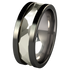 Nugget White Gold Inlay - Black-none-Titanium Rings
