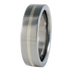 Sunbeam white Gold inlay-none-Titanium Rings