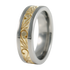 Flora sculpted Gold inlay-none-Titanium Rings