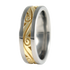 Murano sculpted Gold inlay-none-Titanium Rings