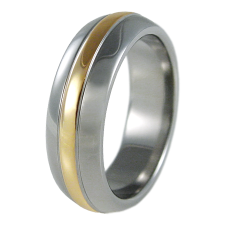 Osmosis Yellow Gold Inlay-none-Titanium Rings