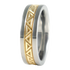 Sumeria sculpted Gold inlay-none-Titanium Rings