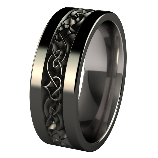 Yseult - Black-none-Titanium Rings