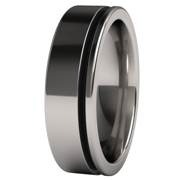 Zuzu - Enamelled Black-none-Titanium Rings
