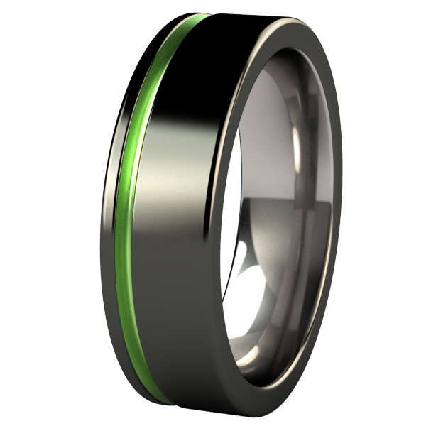 Zuzu - Black & Colored-none-Titanium Rings