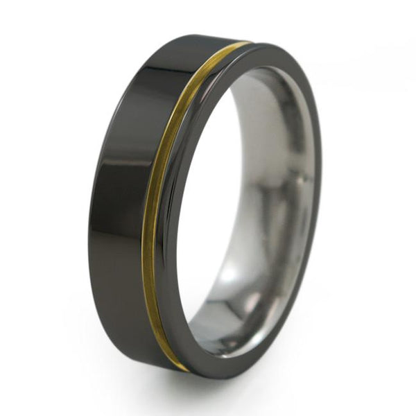 Zuzu | Black Titanium Ring