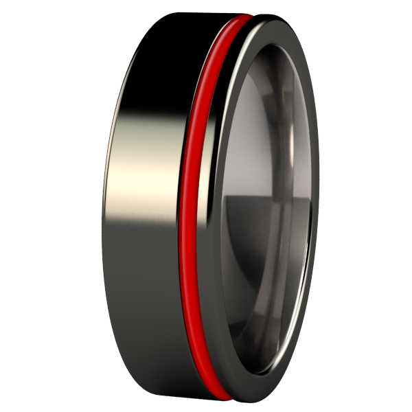 Zuzu - Black & Enamelled-none-Titanium Rings