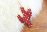 NEW! Polka Dot Gold Tipped Cactus Ornament