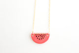 Two Tone Half Circle Patterned Necklace