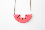 Coral and Gold Sunburst Necklace