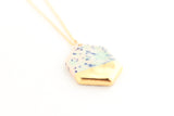 Cotton Candy Gold Dipped Gem Necklace