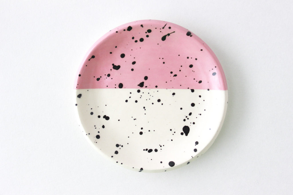 Color Block Splatter Ring Dish