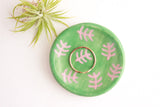 Green and Pink Fern Mini Ring Dish / Plant Collection