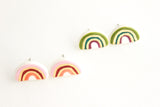 NEW! Fall Colored Gold Rainbow Stud Earrings