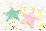 Star Ornament with Gold Dot Outline