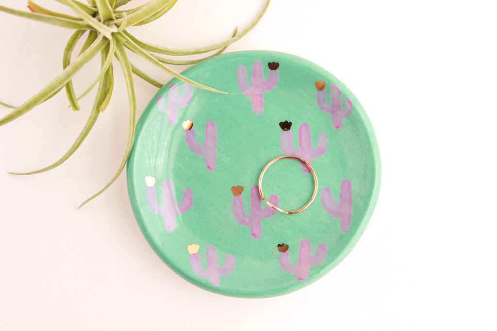 Illustrated Cactus Ring Dish / Plant Collection