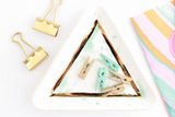 Jade Splash Triangle Ring Dish