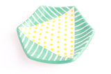 Double Patterned Hexagon Ring Dish