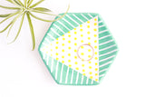 SALE! Double Patterned Hexagon Ring Dish