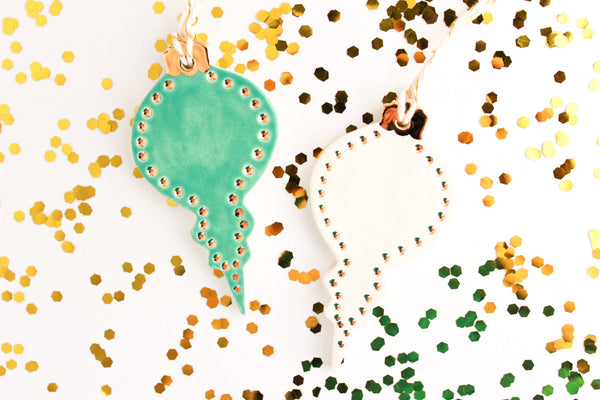 SALE! Gold Polka Dot Ornament