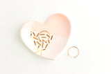 Pastel Color Block Dash Heart Ring Dish