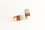 NEW! Gold Striped Bar Stud Earrings