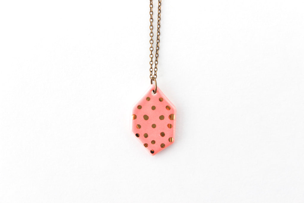 Patterned Gem Necklace