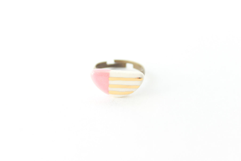 SALE! Patterned Half Circle Ring