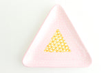 Patterned Triangle Ring Dish