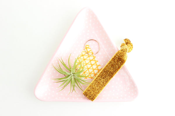SALE! Patterned Triangle Ring Dish