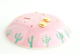 Domed Pink Cacti Earring Holder / Plant Collection