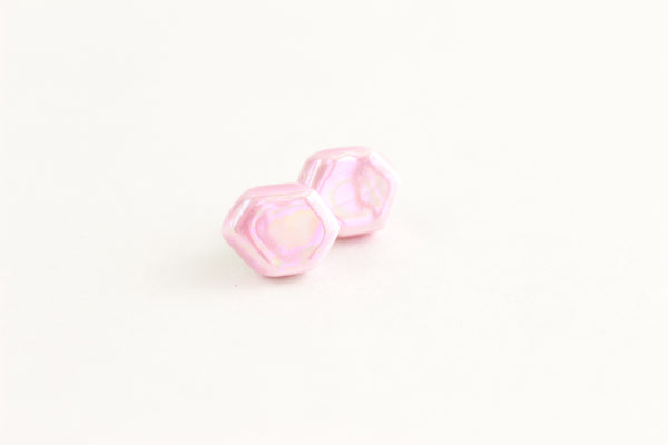 Pink Pearl Gem Earrings